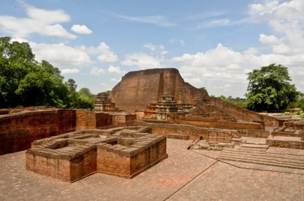 Archaeological site of Nalanda Mahavihara (Nalanda University) at Nalanda, Bihar