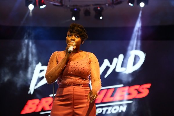 Waje blesses the audience