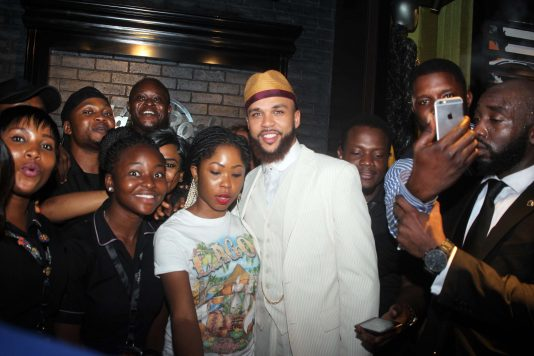 Jidenna and elated fans