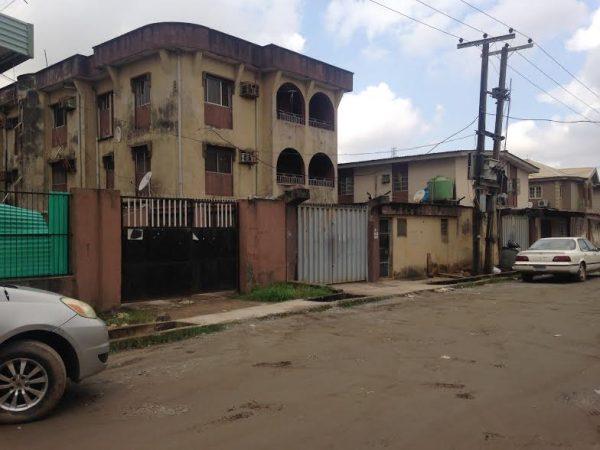 Ikeagwu's house - on Tuesday |  Photo: Saminu Machunga