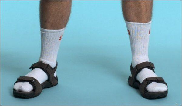 Socks on Sandals