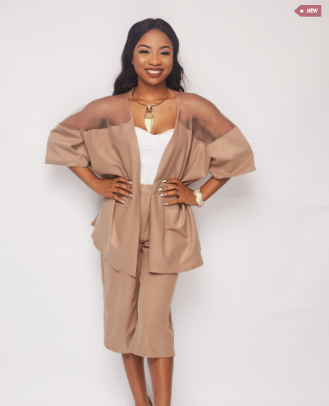 The Bolanle Nude Suede Coord Set