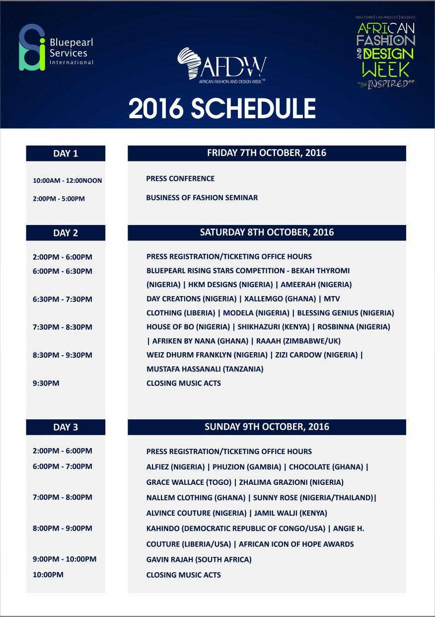 afdw-schedule