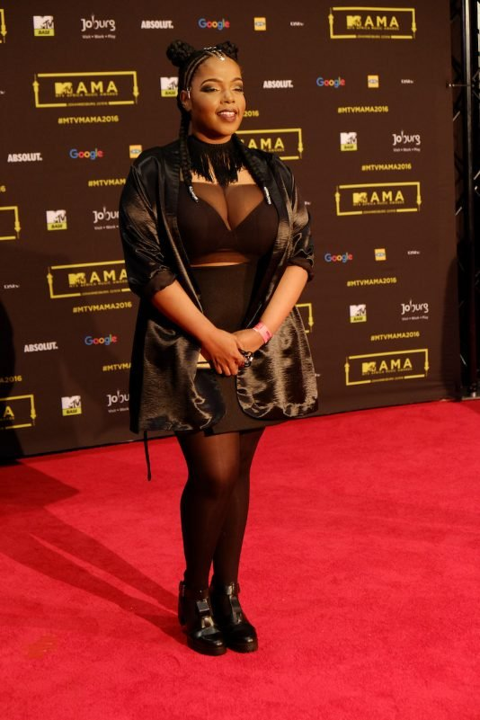 The artist Shekinah at the red carpet during the MAMA 2016, in Johannesburg, South Africa on October 22nd, 2016