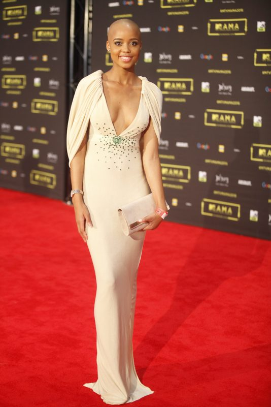 The TV personality Ntando Duma at the red carpet during the MAMA 2016, in Johannesburg, South Africa on October 22nd, 2016