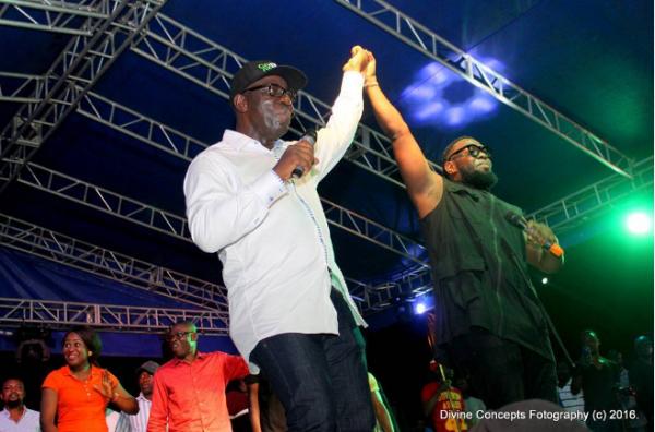 Timaya and Obaseki, the incoming governor