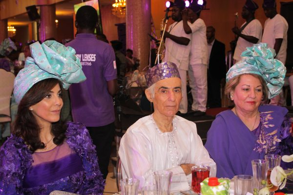 Family of the Bride: Mother of the Bride, Mrs. Nooshin (left); Grand Father, Mr. Khosrow and Grand Mother, Mrs. Monir.