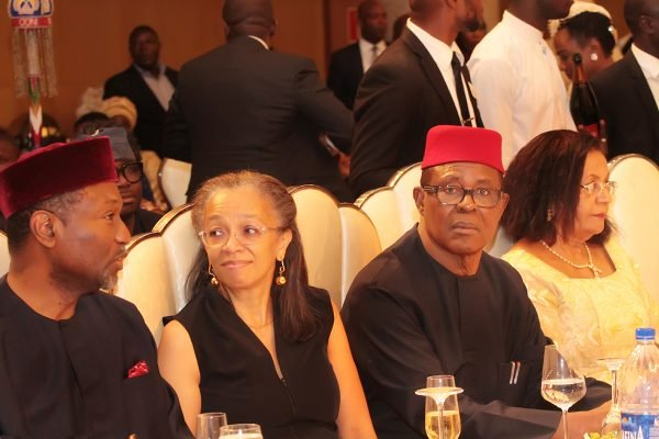 From left: Minister of Budget and National Planning, Sen. Udoma Udo Udoma; his wife, Mrs. Sally; Former Chief of General Staff (Vice President under Military) Commodore Ebitu Ukiwe (rtd) and his wife, Mrs. Abigael.