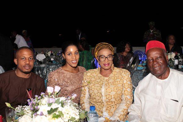 Naeto Chikwe; his wife, Nicole Chikwe, Kema Chikwe and her husband, Chief Herbert.
