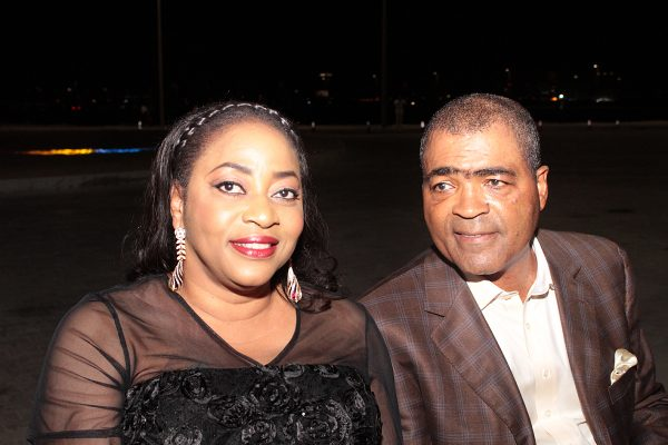 Former minister of state for defence, Demola Seriki and wife, Wolisat.