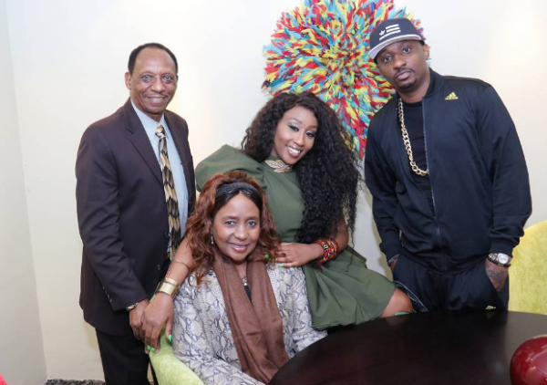 Kimani's parents and brother were present at the official launch | TheCable Lifestyle