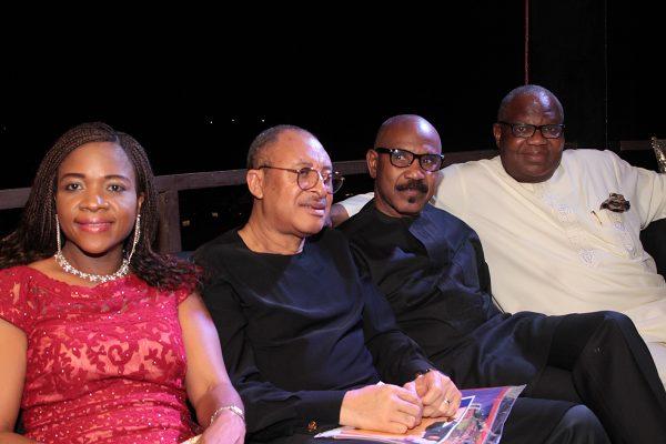 From left: Mrs. Ifeoma Utomi and husband, Prof. Pat; Sen. Olurunnimbe Mamora and Prof. Toyin Ashiru.