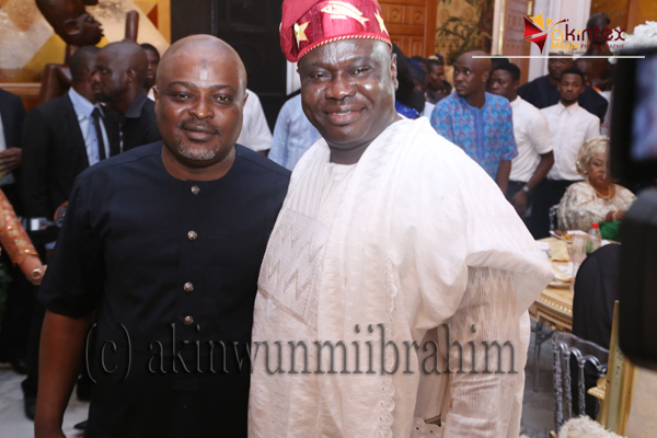 Present Speaker, Lagos State House of Assembly, Rt. Hon. Mudashiru Obasa (L) and his former counterpart, Hon. Adeyemi Ikuforiji.