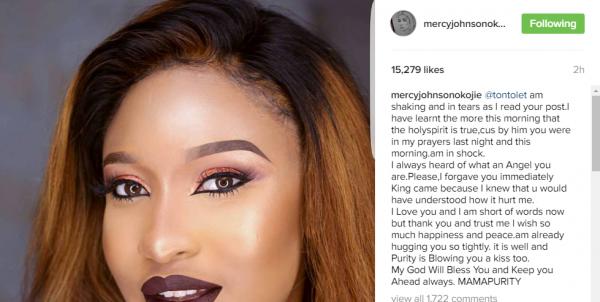 Mercy Johnson's response to Tonto Dikeh
