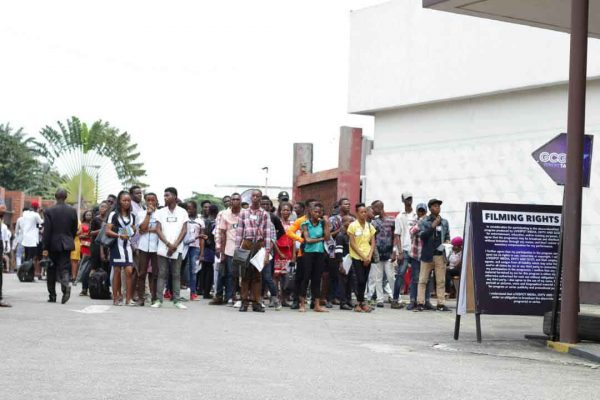 Contestant waiting to audition in Port Harcourt GCGT 7