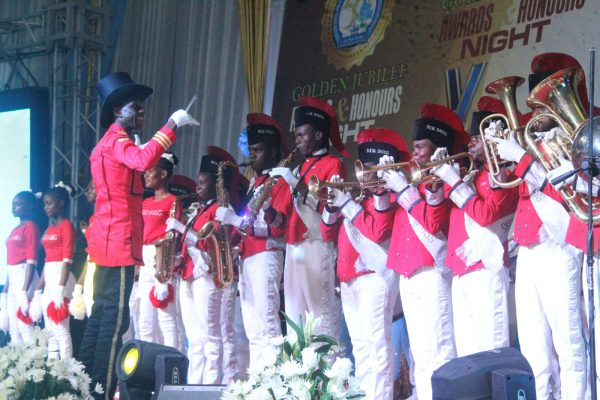 Real Brass Ochestra Entertaining Guest during the Rivers State Golden Jubilee Awards and houours Night Weekend in Port Harcourt. Photo: Nwankpa Chijioke