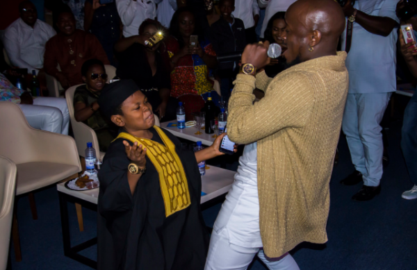 Osita Iheme and Ykee Benda getting down to business while the latter performed
