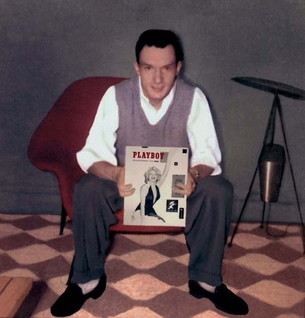 hughhefkeyHugh Hefner with first Playboy issue, 1953_credit Playboy