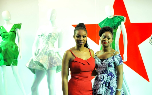 africa inspiredBolanle Olukanni and Amina Jagun Asst Brand Manager, Heineken at the Heineken Lagos Fashion And Design Week 2017