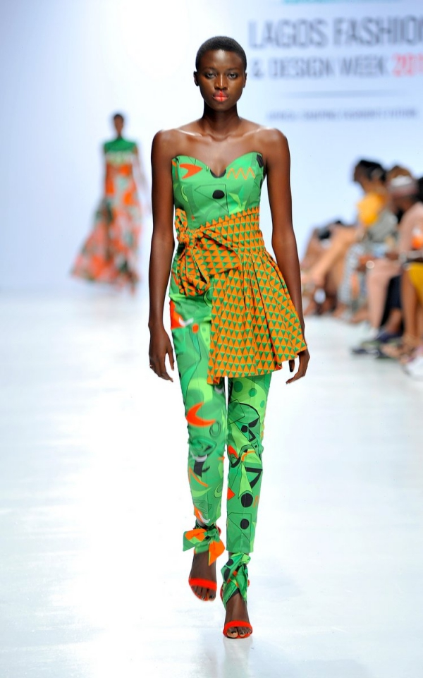 africa inspiredModel wearing a piece from the Africa Inspired Fashion by Heineken at the Heineken Lagos Fashion And Design Week 2017 002