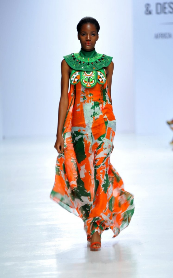africa inspiredModel wearing a piece from the Africa Inspired Fashion by Heineken at the Heineken Lagos Fashion And Design Week 2017 003