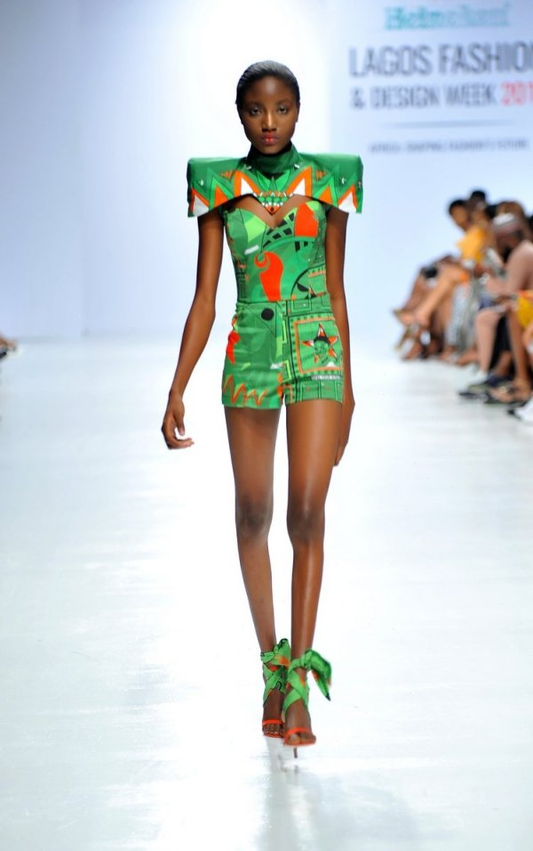 africa inspiredModel wearing a piece from the Africa Inspired Fashion by Heineken at the Heineken Lagos Fashion And Design Week 2017 004