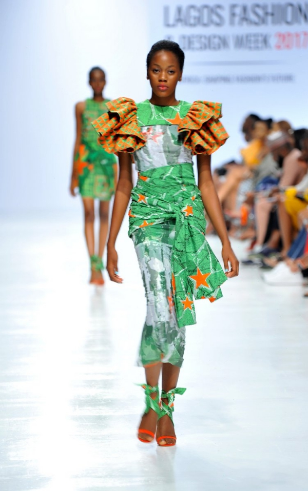 africa inspiredModel wearing a piece from the Africa Inspired Fashion by Heineken at the Heineken Lagos Fashion And Design Week 2017 007