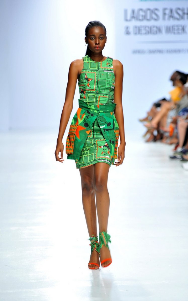 africa inspiredModel wearing a piece from the Africa Inspired Fashion by Heineken at the Heineken Lagos Fashion And Design Week 2017 008