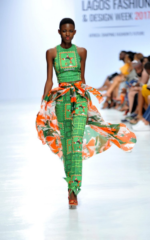 africa inspiredModel wearing a piece from the Africa Inspired Fashion by Heineken at the Heineken Lagos Fashion And Design Week 2017 009