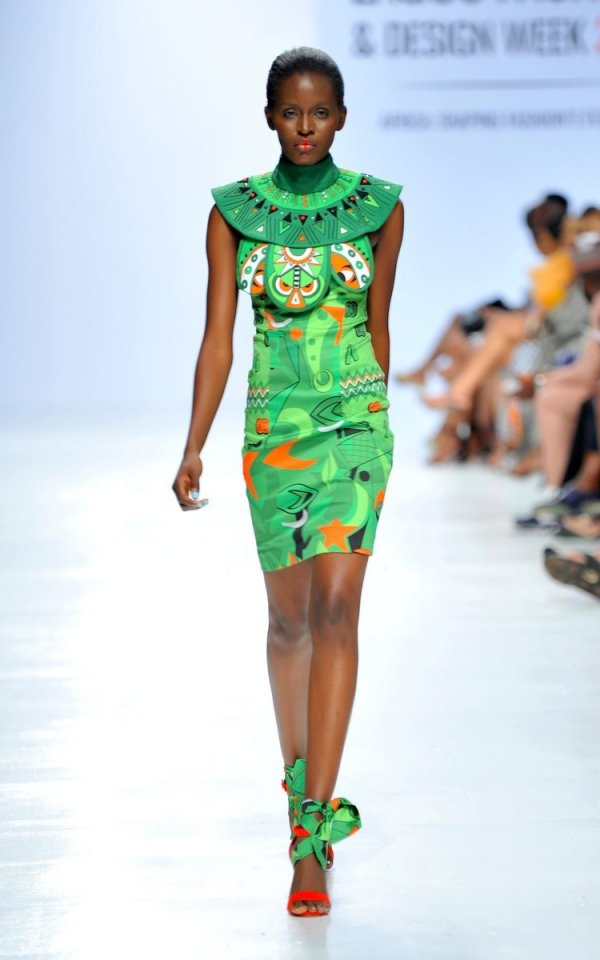 africa inspiredModel wearing a piece from the Africa Inspired Fashion by Heineken at the Heineken Lagos Fashion And Design Week 2017 01