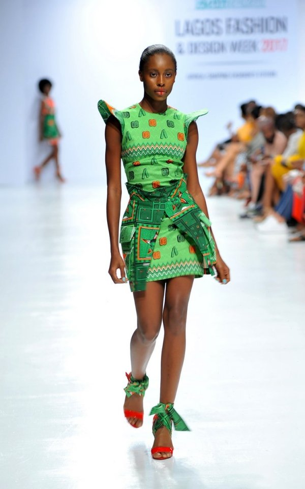 africa inspiredModel wearing a piece from the Africa Inspired Fashion by Heineken at the Heineken Lagos Fashion And Design Week 2017 010