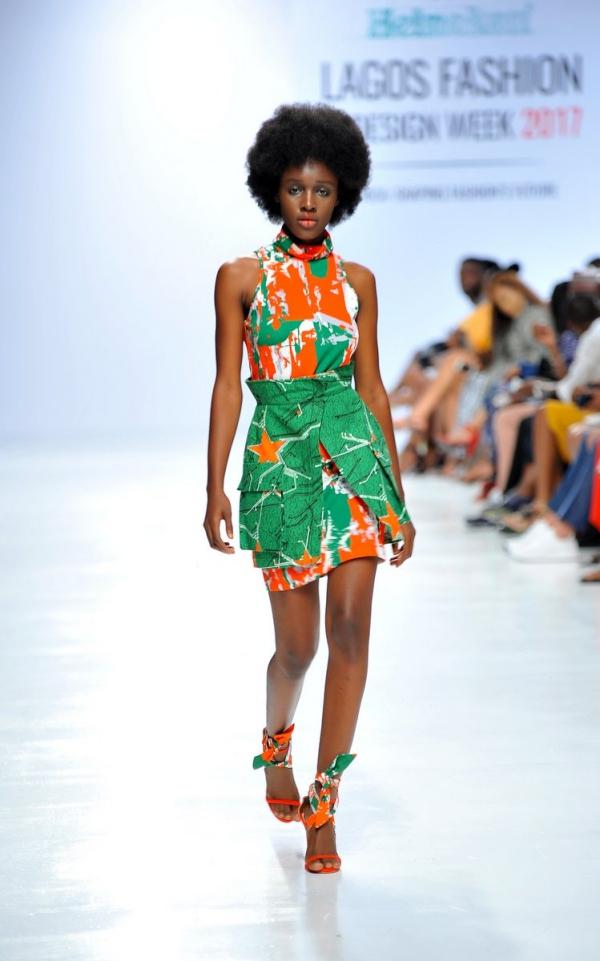 africa inspiredModel wearing a piece from the Africa Inspired Fashion by Heineken at the Heineken Lagos Fashion And Design Week 2017 011