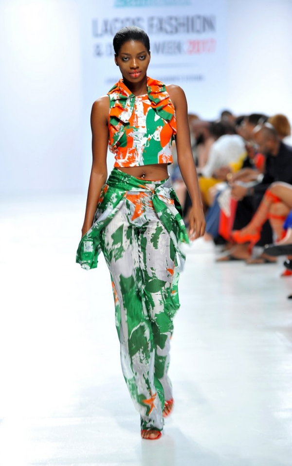 africa inspiredModel wearing a piece from the Africa Inspired Fashion by Heineken at the Heineken Lagos Fashion And Design Week 2017 012
