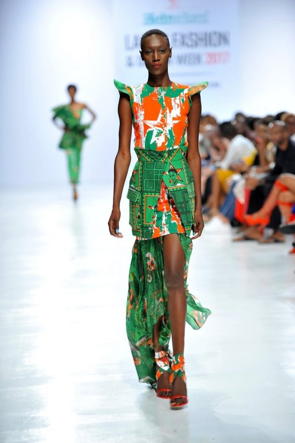 africa inspiredModel wearing a piece from the Africa Inspired Fashion by Heineken at the Heineken Lagos Fashion And Design Week 2017 013