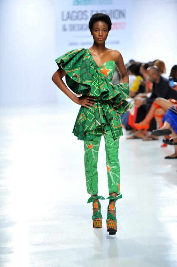africa inspiredModel wearing a piece from the Africa Inspired Fashion by Heineken at the Heineken Lagos Fashion And Design Week 2017 014