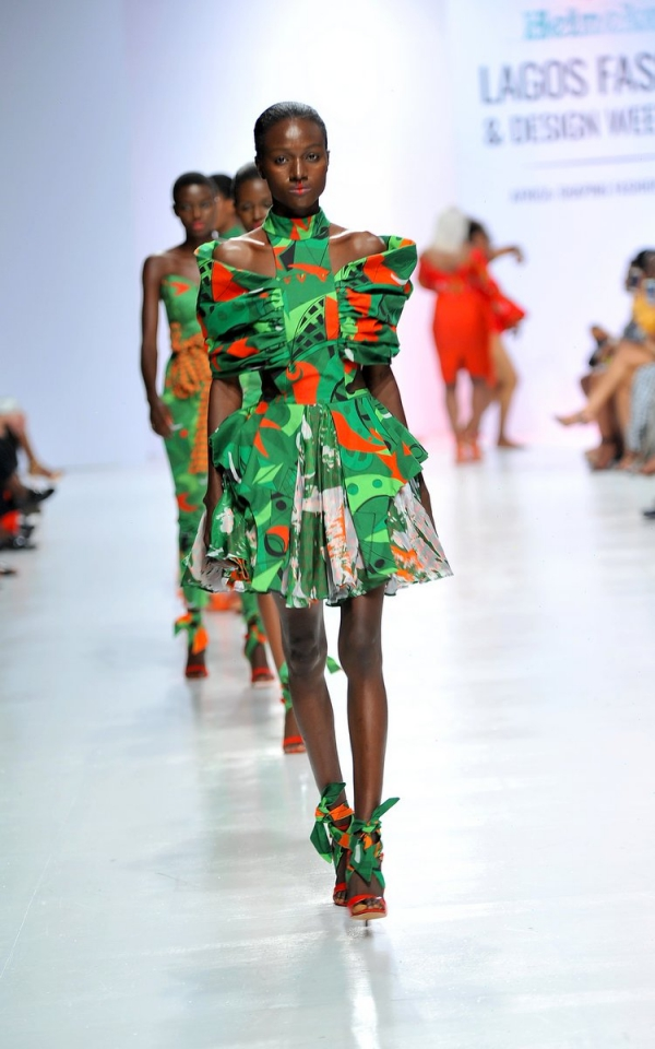africa inspiredModel wearing a piece from the Africa Inspired Fashion by Heineken at the Heineken Lagos Fashion And Design Week 2017 015