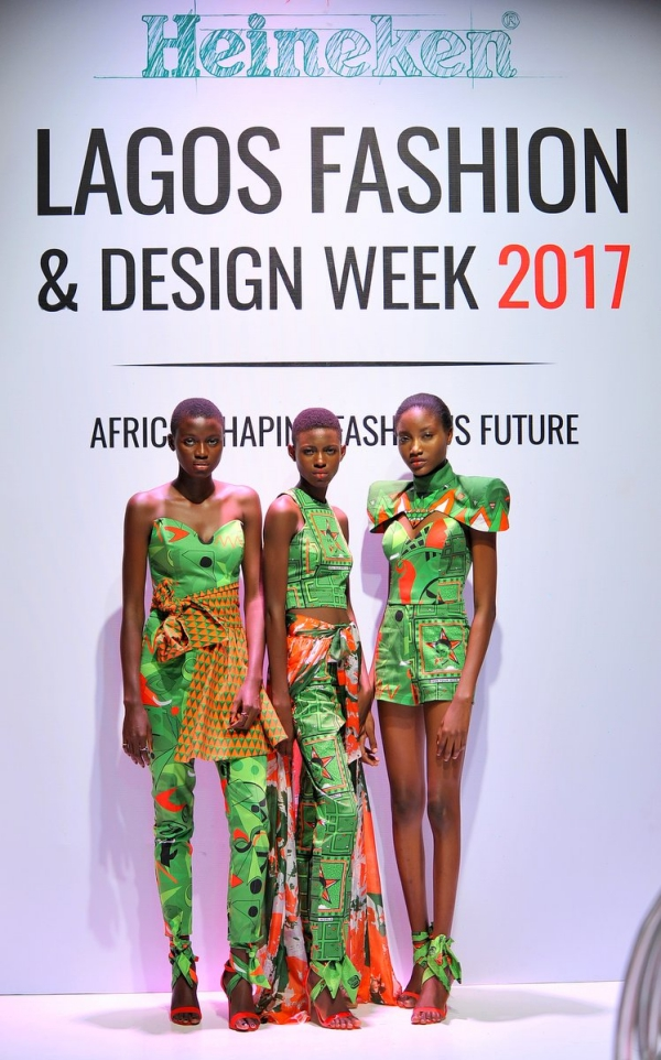 africa inspiredModels at the Heineken Lagos Fashion and Design Week 2017
