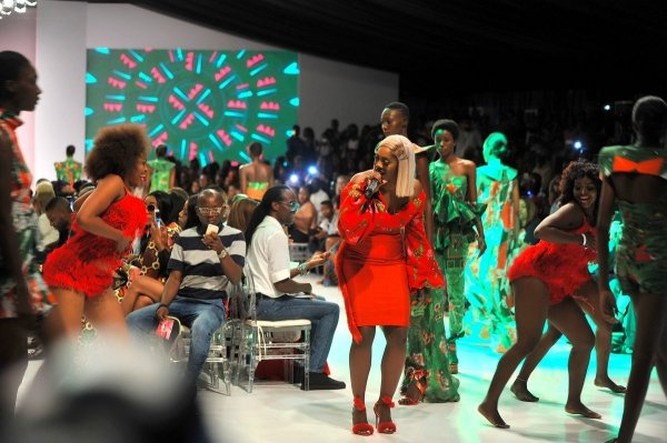africa inspiredTiwa Savage performing during the final day of the Heineken Lagos Fashion And Design Week 2017