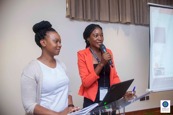 AFRIFFFilmmaker Judith Audu speaking at one of the AFRIFF 2017 sessions
