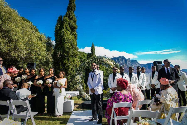 Banky W waiting for his bride at Camps Bay .