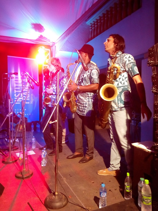saxophonists on stage