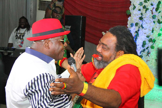 Ras Kimono and Sir Shina Peters