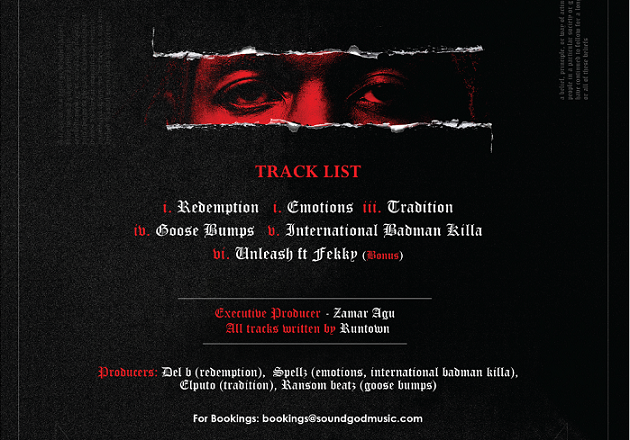 Runtown announces release date for new EP 'Tradition'