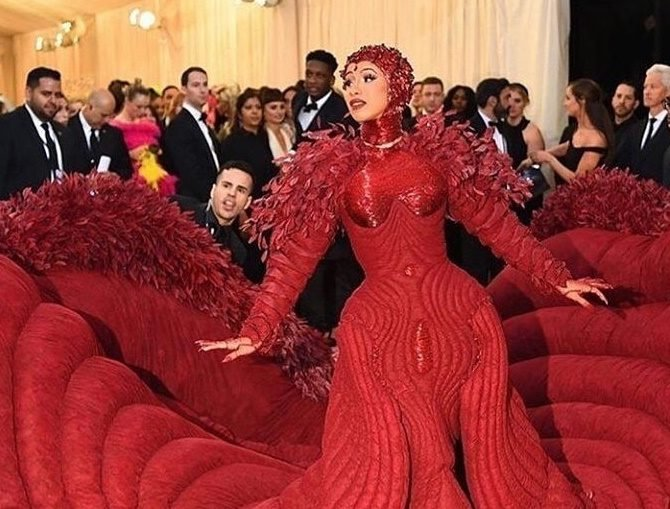 Cardi B at the Met Gala 2019
