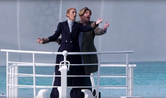 WATCH: Celine Dion recreates iconic 'Titanic' scene with James Corden