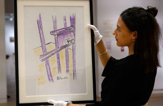 Nelson mandela prison door drawing