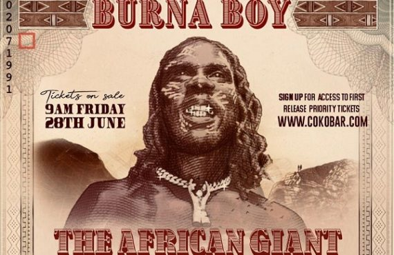 Burna Boy announces dates for 'The African Giant Returns' tour
