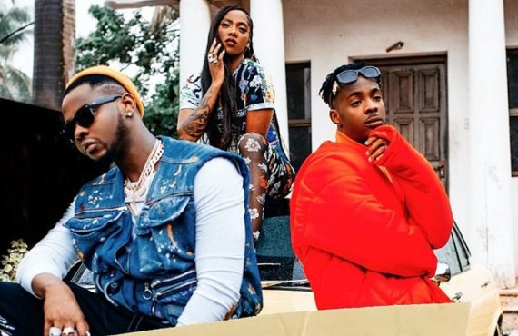 WATCH: Tiwa Savage, Kizz Daniels connect with Young John in…