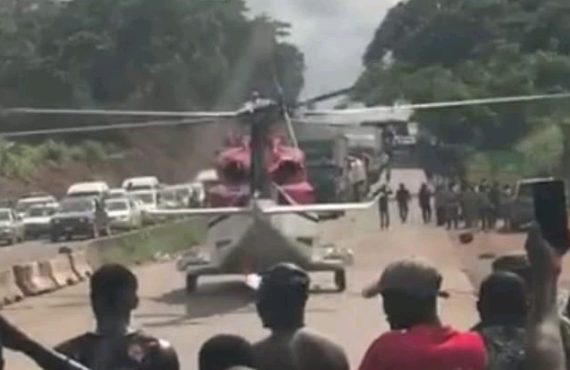 Nigerian picked by chopper on Ore road 'suffered stroke'