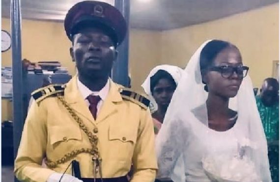 Visually impaired LASTMA officer weds heartthrob